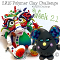 2015 Polymer Clay Challenge, Week 21 by KatersAcres | #2015PCChallenge