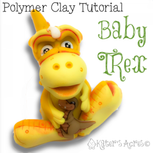 Baby TRex Polymer Clay Tutorial by KatersAcres