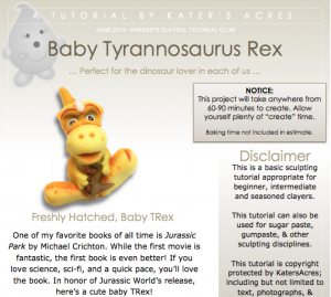 Baby TRex Tutorial Preview by KatersAcres