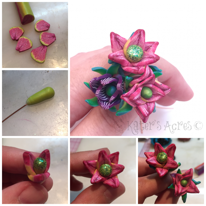 Polymer Clay Tutorial - Flower Head Pins Using Scrap Cane Ends & Leftovers by KatersAcres | FREE Tutorial - PIN NOW, Make later