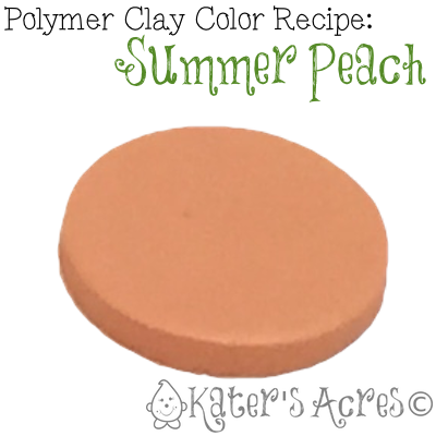 Polymer Clay Color Recipe for Summer Peach by KatersAcres