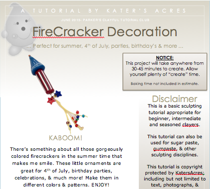 Polymer Clay FireCracker Tutorial by KatersAcres - PDF PREVIEW
