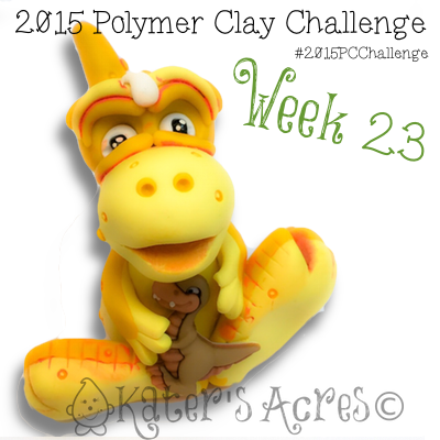 2015 Polymer Clay Challenge, Week 23 by KatersAcres | #2015PCChallenge