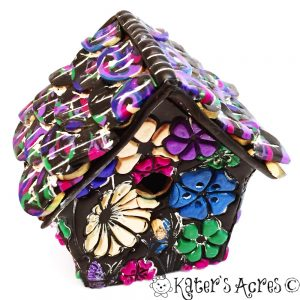 Polymer Clay Birdhouse by KatersAcres   FREE Tutorial to make your own birdhouse