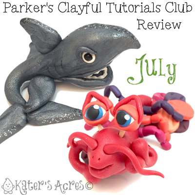Parker's Clayful Tutorial Club - July 2015 Monthly Review | Click to see how you can save on PDF instant download whimsical tutorials
