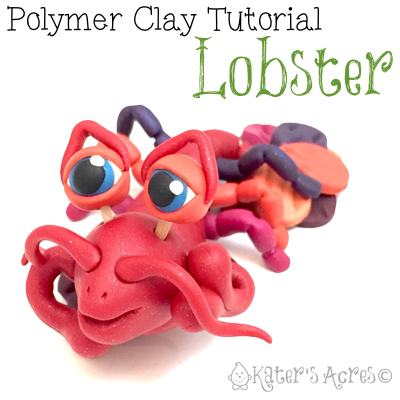 Lobster Polymer Clay Tutorial by KatersAcres   DIY Sculpting Project, Make Your Own Underwater Creature #polymerclay