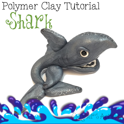 Polymer Clay Shark Tutorial by KatersAcres | In honor of Shark Week on the Discovery Channel, learn to make your own