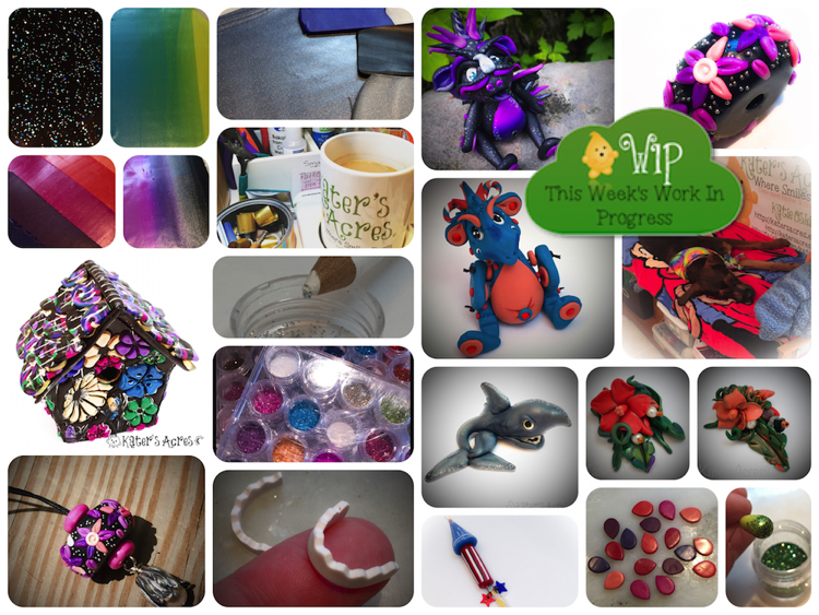 WIP Wednesday in KatersAcres Polymer Clay Studio   Join the Conversation: What are YOU working on?