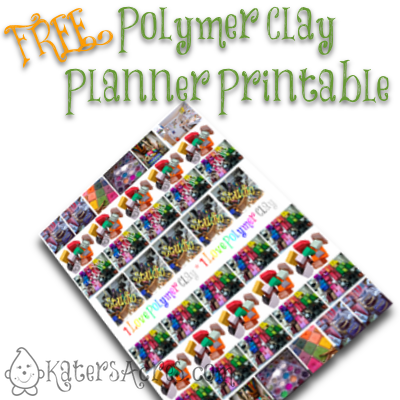 Polymer Clay Planner Printables by KatersAcres | CLICK to Print Your Own Polymer Clay Stickers