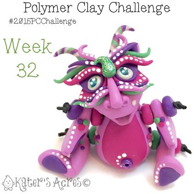 2015 Polymer Clay Challenge, Week 32 by KatersAcres   #2015PCChallenge