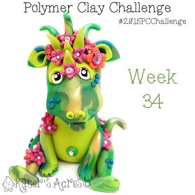 2015 Polymer Clay Challenge, Week 34 Seasonal Dragons, Summer by KatersAcres | #2015PCChallenge