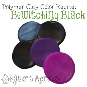 Bewitching Black Polymer Clay Color Recipe INGREDIENTS by KatersAcres  | CLICK to get the color recipe