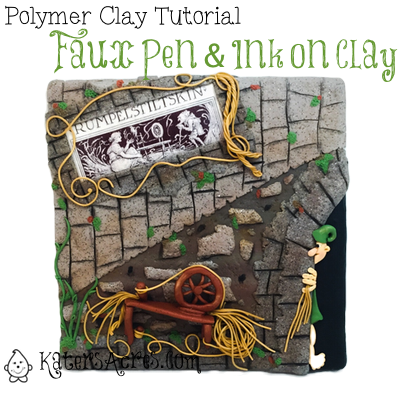 Faux Pen & Ink on Polymer Clay Tutorial by KatersAcres