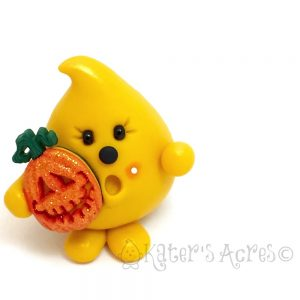 Polymer Clay Figurine, Parker with Jack-O-Lantern | Limited Edition OOAK Handmade Collectible - Ready for adoption on Etsy