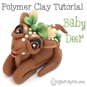 Polymer Clay Deer Tutorial by KatersAcres | Instant Download PDF Project for any level sculptor. Also can be used with fondant, sugar paste, or other sculpting mediums.