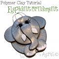 Polymer Clay Elephant Ornament Tutorial by KatersAcres