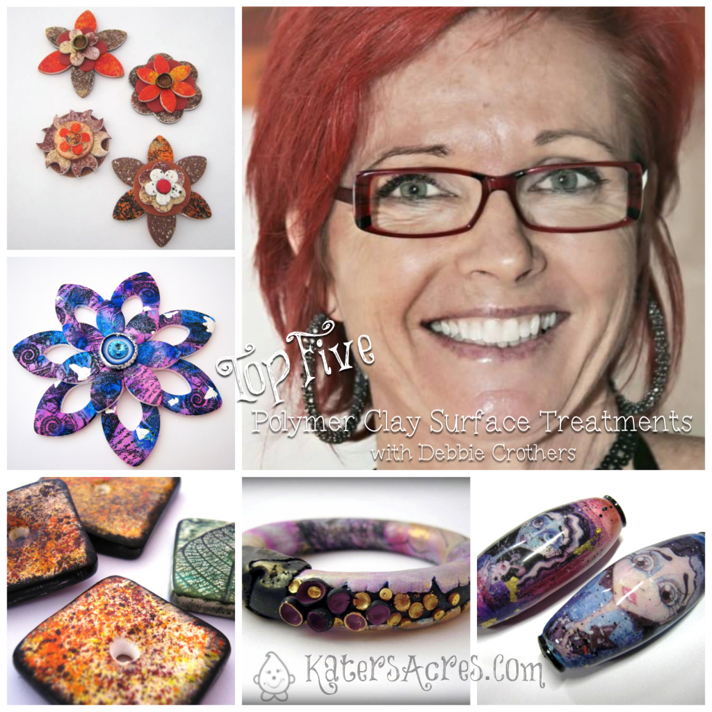 Top 5 Polymer Clay Surface Treatments with Debbie Crothers | CLICK to see 5 awesome surface design techniques for polymer clay