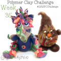 2015 Polymer Clay Challenge, Week 35 by KatersAcres | #2015PCChallenge