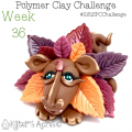 2015 Polymer Clay Challenge, Week 36 by KatersAcres | #2015PCChallenge