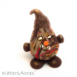 Polymer Clay Figurine, Acorn Parker - Limited Edition OOAK Handmade Collectible   Ready for adoption on Etsy