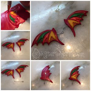 Polymer Clay Fantasy Wings Tutorial Using Christi Friesen Stamps Part 2 by KatersAcres