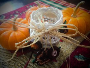 Fall Polymer Clay Tutorial, Festive Masor Jar Centerpiece using Millefiori Canes | October Pavelka Project
