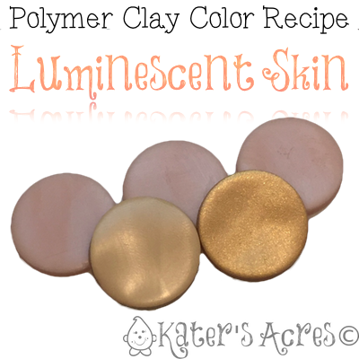 Polymer Clay Color Recipe Luminescent Skin by KatersAcres