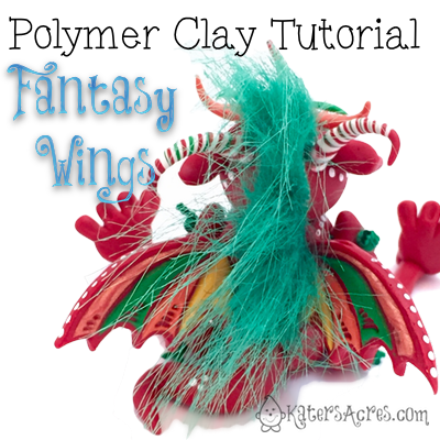 Polymer Clay Fantasy Wings Tutorial by KatersAcres