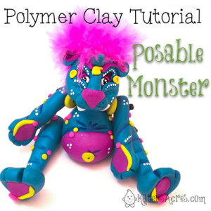 Polymer Clay Posable Monster Doll Tutorial by KatersAcres