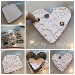 Coffee Heart Ornament Polymer Clay Tutorial by KatersAcres