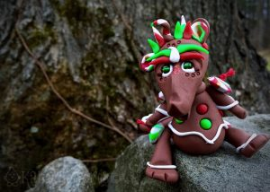"Polymer Clay Dragon ""GINGY"" by Katie Oskin of KatersAcres, Ready for Adoption on Etsy"