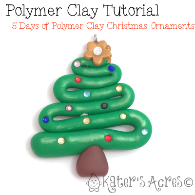 Polymer Clay Christmas Tree Decorations.Polymer Clay Tutorial 5 Days Of Ornaments Christmas Tree