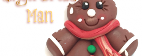5 Days of FREE Polymer Clay Ornament Tutorials - Iced GingerBread Man by KatersAcres | CLICK to see how to make your own