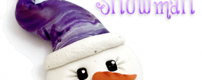 5 Days FREE Polymer Clay Ornament Tutorials - Snowman by KatersAcres | CLICK to see how to make your own