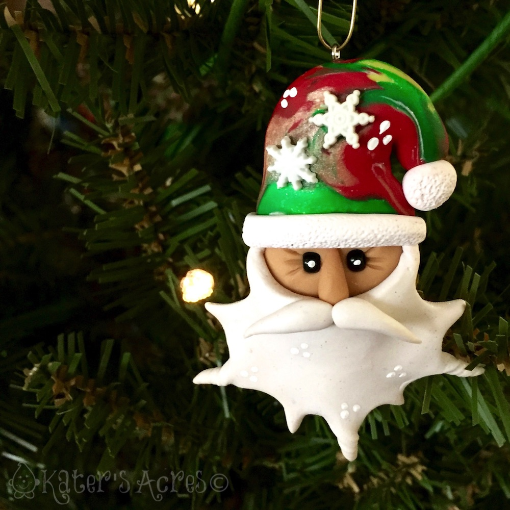Polymer Clay Christmas Ornament: KatersAcres Polymer Clay Christmas Ornament Tutorial