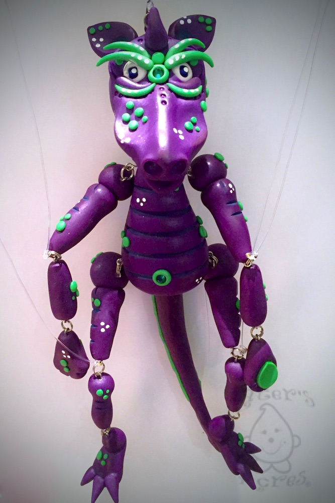 Givr the Polymer Clay Marionette Dragon by KatersAcres   Week 52 of the #2015PCChallenge