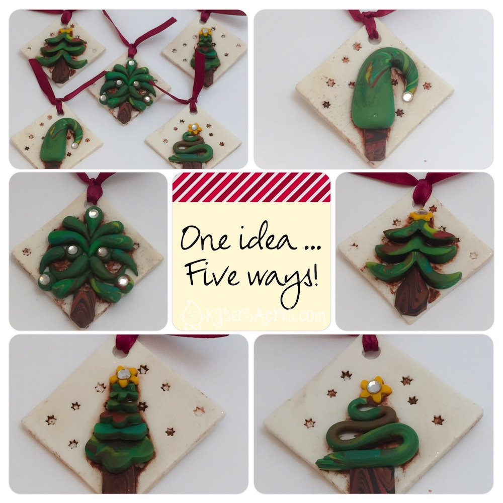 Polymer Clay Christmas Ideas.Polymer Clay Ornaments 1 Idea 5 Different Ways Katersacres
