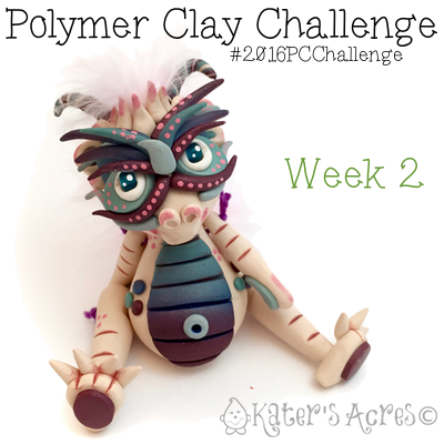 "2016 Polymer Clay Challenge - Week 2 ""Champagne"" with #KatersAcres #2016PCChallenge"
