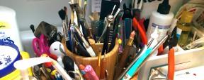 KatersAcres Polymer Clay Studio, Workstation Spinner