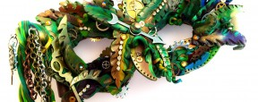 """""""JunglePunk"""" Polymer Clay Mask by Katie Oskin of KatersAcres 