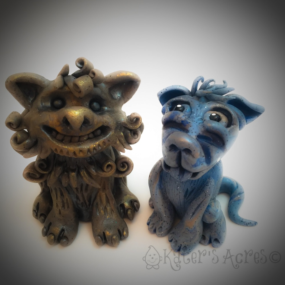 Polymer Clay Dog Gargoyle Tutorial by KatersAcres