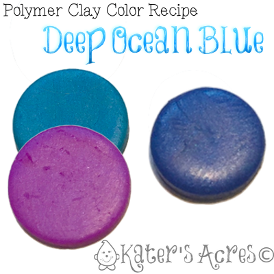 Polymer Clay Color Recipe Deep Ocean Blue by KatersAcres