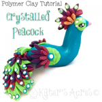 Polymer Clay Peacock Tutorial by KatersAcres | CLICK to get the tutorial and supply lists