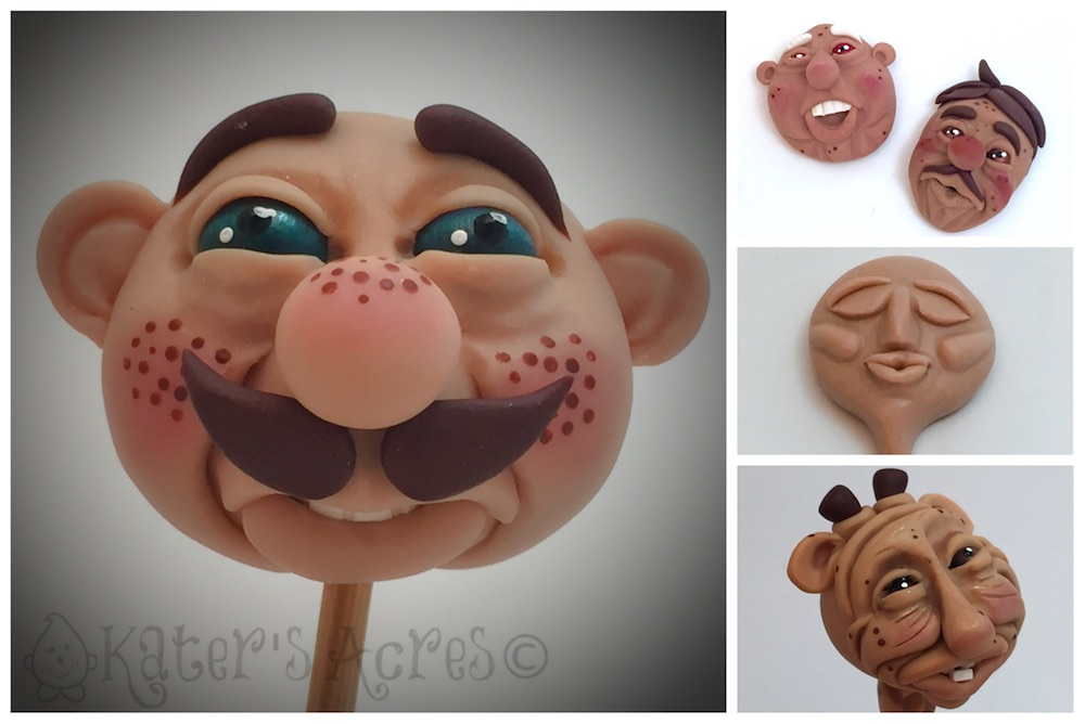 February Polymer Clay Fantasy FACES by Katie Oskin of KatersAcres
