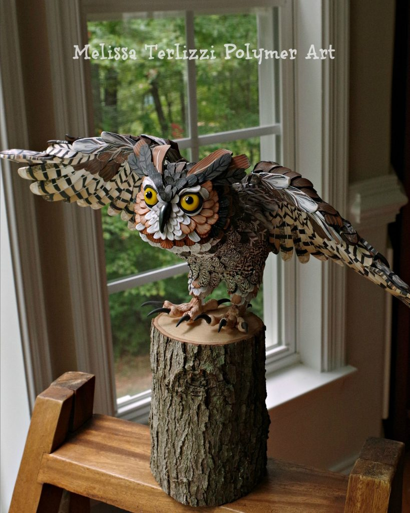 Great Horned Owl by Melissa Terlizzi