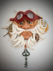 """Wall Decor Piece """"Father Time"""" by Katie Oskin of KatersAcres 