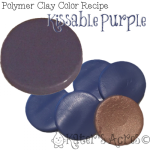 Polymer Clay Color Recipe for Kissable Purple by KatersAcres