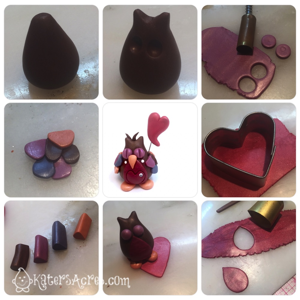 Polymer Clay Valentine's Day Owl Tutorial by KatersAcres-imp