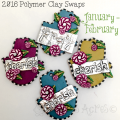 Polymer Clay Swaps for January - February 2016 | See Swaps from KatersAcres for the 2016PCA, IPCA, HOP, & PCTribe Groups