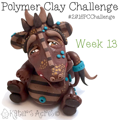 "Polymer Clay Challenge - Week 13 by KatersAcres | ""Rhyce"" the Dragon is available for Adoption"